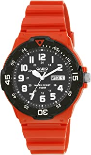Casio Casual Watch Analog Display Quartz For Men Mrw-200Hc-4Bv, Red Band
