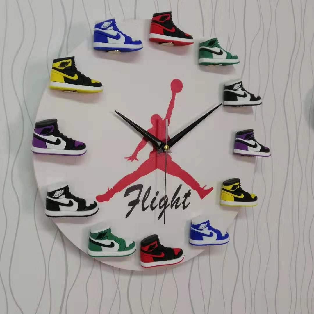 Air Jordan 3D Sneaker Clock with Hand Painted 1-12 Mini Sneakers – Wall Mounting Air Jordan Clock Mini Sneaker Clock in White Color - Sneaker-Head ...