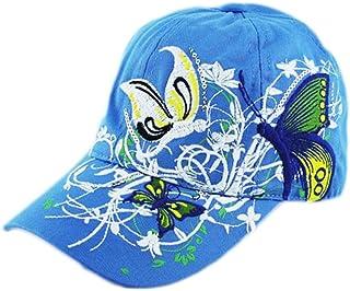 Botrong Embroidered Baseball Cap Lady Fashion Shopping Cycling Duck Tongue Hat (Blue)