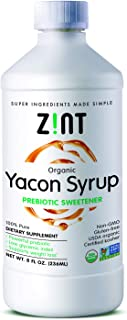 Zint Organic Yacon Syrup for Weight Loss - Paleo-Certified Prebiotic Fiber, Natural Sweetener, Non GMO, Pure Yacon Root Superfood - Natural Diet Supplement (8 fl oz)