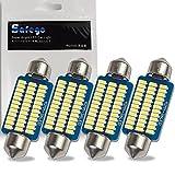 Safego 4x C5W 42mm 211 211-2 578 LED Festoon 36-3014SMD DE3425 Bombilla para luces del coche 12844 DE440 Luz para Leer...