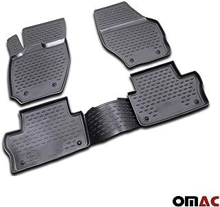 OMAC GmbH Nero Bordo Alto Tappetini Anteriori per Transit Connect a Partire dal 2002 in Gomma