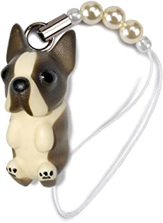 ペットラバーズ 犬種 Dog 92 Boston Terrier ボストンテリア ブリンドル ビーズ ストラップ DN-9001