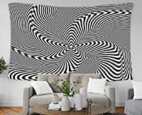 Music Wall Hanging Tapestry Optical Illusion Abstract Background 150x100cm