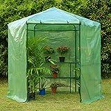 Erommy 7.5FT Portable Greenhouse 3-Tier Shelf Hexagonal...