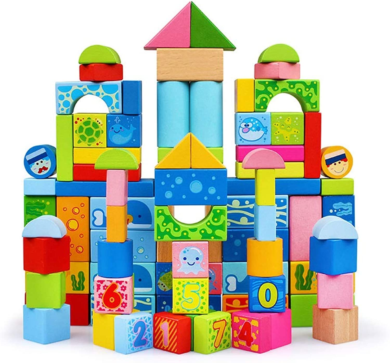 Xiao Jian- Pdagogische Spielwaren der Kinder Bausteine   Baby Baby Puzzle Spielzeug - 100 Digitale Bausteine Intelligentes Spielzeug (Farbe   B)