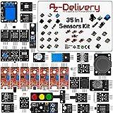 AZDelivery 35 en 1 Set de Accesorios, Kit Sensores Módulos compatible con Arduino con E-Book incluido!