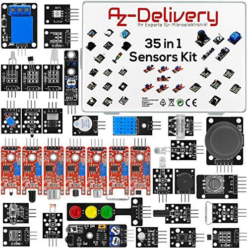 AZDelivery 35 in 1 Arduino Set Zubehör Sensor Kit Modul kompatibel mit Arduino und anderen Mikrocontrollern inklusive E-Book!