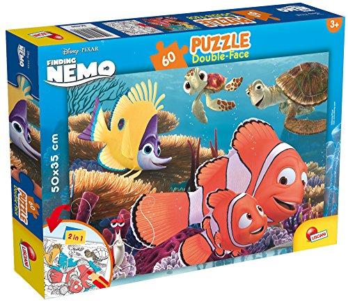 Lisciani Giochi- Nemo Disney Puzzle Doppia Faccia, 60 Pezzi, Multicolore, 47949
