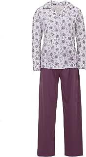 Zeitlos Donna Pigiama Set Pantaloni Corta a Fiori Scollo V