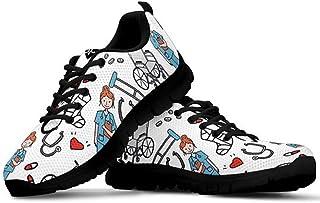 Sneaker Zapatillas de Deporte Multicolor con Imagenes Encantadoras para Dama Mujer con Cordones 36-45 Talla Europea