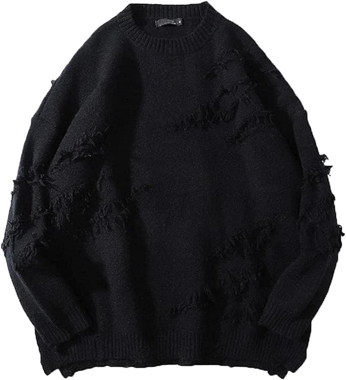 JOAOL Men Winter Streetwea Long Sleeve Solid Pullover Oversize Couple Sweater