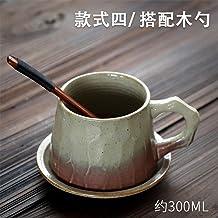 tywgb Juego De Plato Y Taza De Café Japonés Vintage Taza De Té Cerámica Taza De Café Retro Hecha A Mano Cerámica Tazas Y Platillos De Té Vintage Le