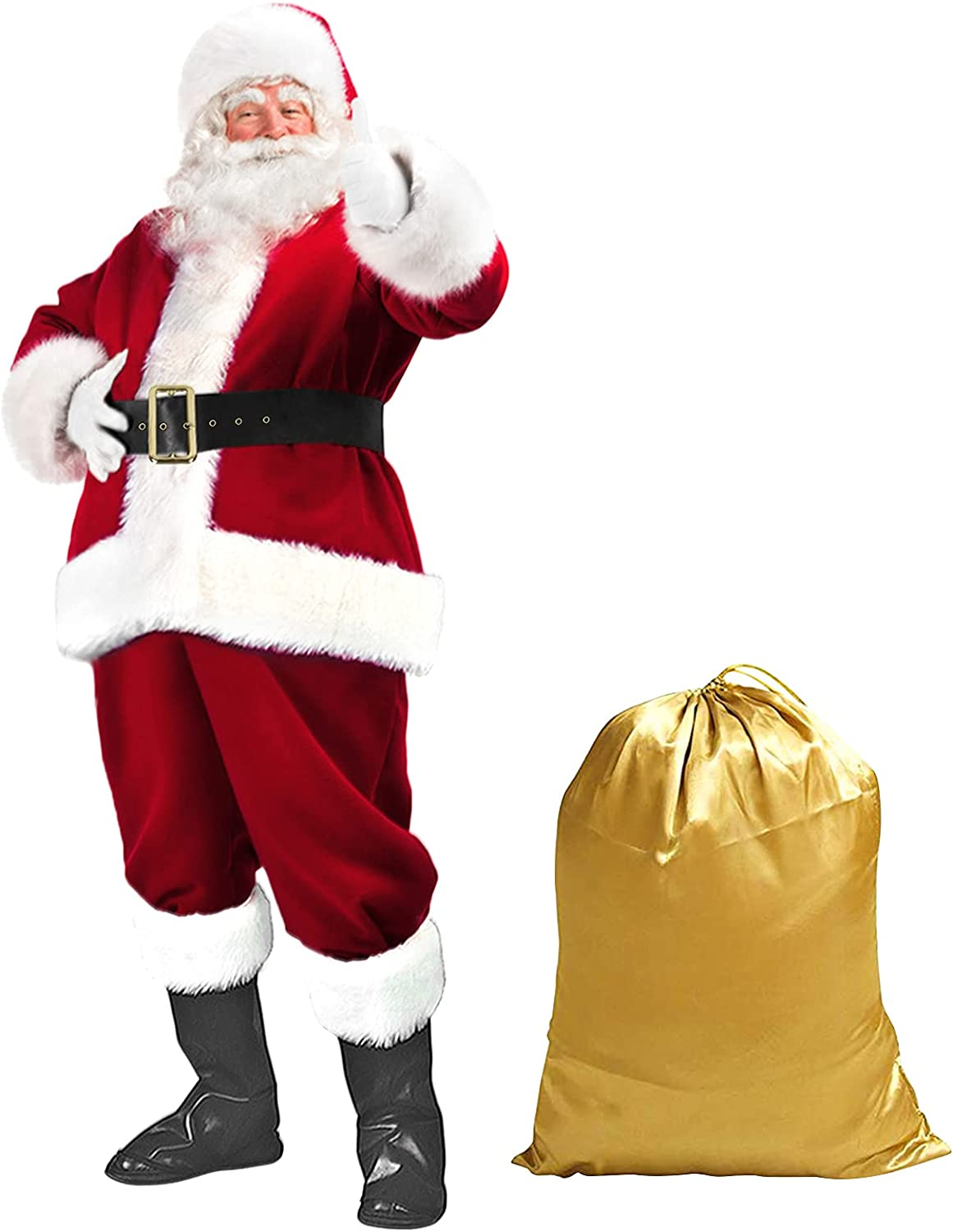 Santa Suit Christmas Claus Costume 67% OFF of fixed price Adult Women Men Overseas parallel import regular item for Cos
