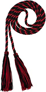 Tassel Depot HONOR CORD BLACK/RED BRAND - MADE IN USA