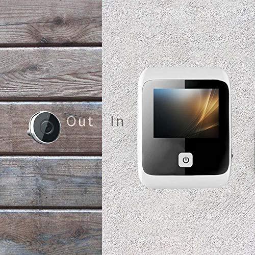 Biback Smart Home Electronic Cat Eye Video Doorbell, Pantalla LCD de 3.0 Pulgadas Intelligent Household Wireless Security Camera Detección de Movimiento Visual Digital Door Viewer, Negro