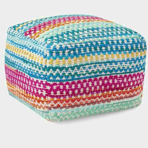McCue Handwoven Pouf, Overall: 23'' H x 23'' W x 16'' D, Overall Height: 23 ''