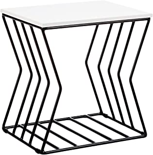 Now House by Jonathan Adler Concave Grid Accent Table Black & White