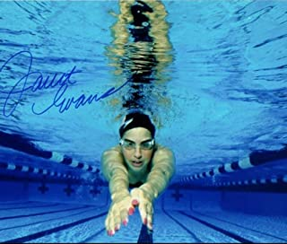 JANET EVANS OLYMPIC SWIMMER SIGNED AUTOGRAPHED 8X10 W/COA