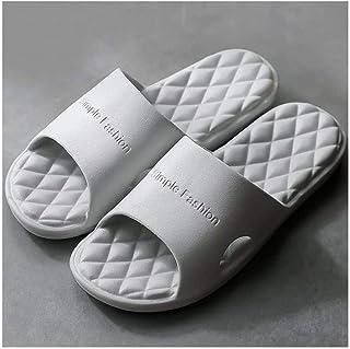 Açık Parmak Kaydırmalı Terlik Erkek Yaz İç Mekan Banyo Ev EVA Banyo Ev Çift Sandalet ve Terlik Yaz Yumuşak Sandalet (Renk:...