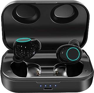 ZoeeTree i18 Audífonos Bluetooth Inalámbricos 5.0 con 120 horas de juego Sonido Estéreo, IPX6 Impermeables Auriculares Bluetooth Deportivos, Control Táctil y Manos Libres Micrófonos para iPhone Sony Samsung Huawei