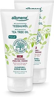 alkmene Teebaumöl 3in1 Gesichtsreinigung - vegane Gesichtsreinigung ohne Silikone, Parabene & Mineralöl im 2er Pack 2x 150 ml