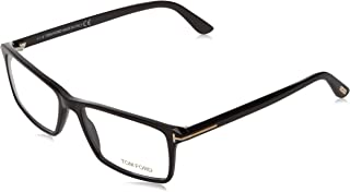 Men's TF 5408 001 Black Clear Rectangular Eyeglasses...