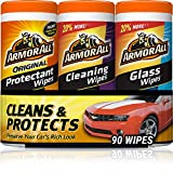 Armor All - 18782 Protectant, Glass and Cleaning Wipes, 30 Count Each (Pack of 3)