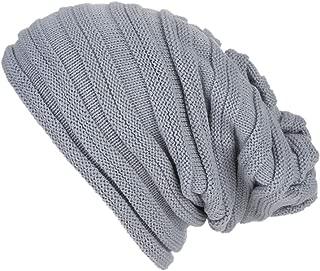 TWGONE Womens Head Wraps Baggy Warm Crochet Winter Wool Knit Ski Beanie Skull Slouchy Caps Hat
