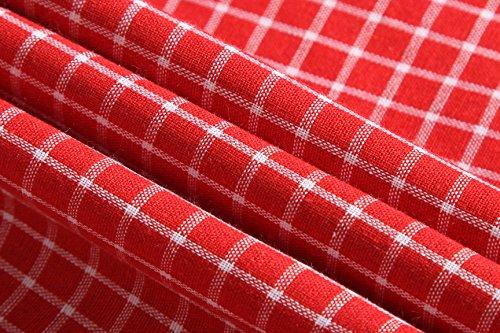 jeansian Men's Long Sleeves Slim Dress Shirt 8615 Red XL