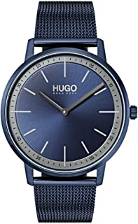 Hugo Boss Unisex-Adult Blue Dial Ionic Plated Blue Steel Watch - 1520011