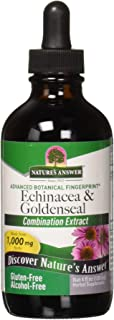 Nature's Answer Echinacea and Goldenseal | Supports a Healthy Immune System | Non-GMO, Alcohol-Free, Gluten-Free & Kosher Certified 4oz