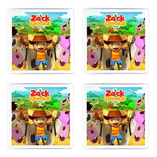 Juego de 4posavasos Zack y Quack
