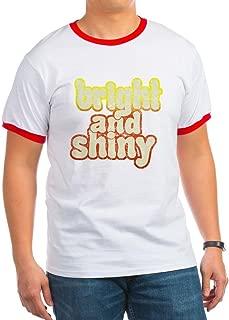 Bright and Shiny Ash Grey T-Shirt Ringer T-Shirt