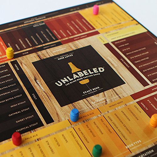 Unlabeled - The Blind Beer Tasting Board Game: Put Your Taste Buds to The Test and Play at Home or...