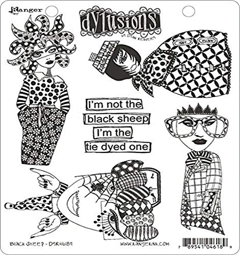 Ranger Sheep Dyan Reaveley's Dylusions Cling Stamp Collections, 8.5 by 7', Black