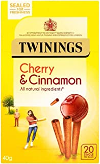 (2 Pack) - Twinings - Cherry & Cinnamon Tea | 20 Bag | 2 PACK BUNDLE