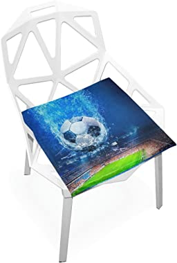 Seat Cushion Chair Cushions Covers Set Water Football Decorative Indoor Outdoor Velvet Double Printing Design Soft Seat Cushion 16 x 16