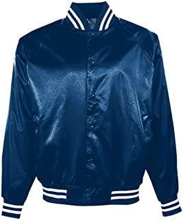 Augusta Sportswear Augusta Satin Baseball Jacket/Striped Trim