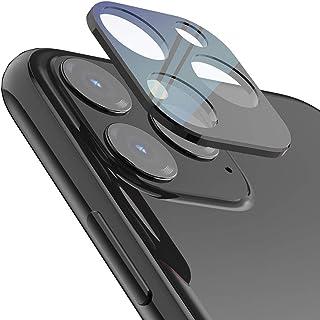 لاصقة حماية بتصميم فائق النحافة وثلاثي الابعاد بتغطية كاملة من الزجاج المقسي لعدسة كاميرا جوال ايفون 11 برو و11 برو ماكس ب...