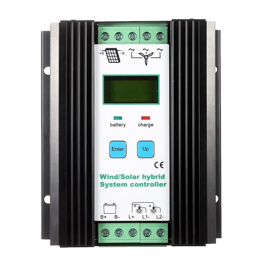 終了しました矩形倫理的Anself 12V /24V PWM 風力ソーラー チャージコントローラー 自動識別 家庭用 バッテリコントローラ保護 (600ワットの風力+400ワットソーラー)