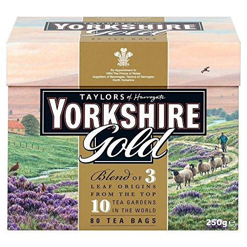 Taylors of Harrogate Yorkshire Gold-Tee (80) - Packung mit 2