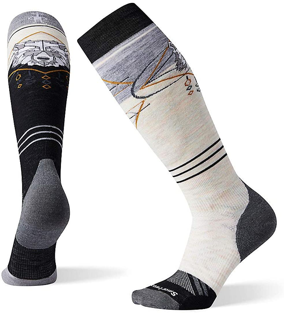 Smartwool Women's PhD Pro Freeski Over-the-Calf Merino Wool Socks, Black, Medium