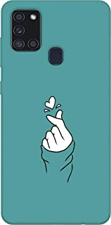 SharpEseller Back Cover For Samsung Galaxy A21s ( Silicone Multi-Coloured )