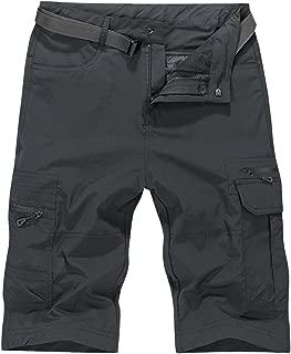 OCHENTA Men's Expandable Waist Lightweight Quick Dry Cargo Shorts
