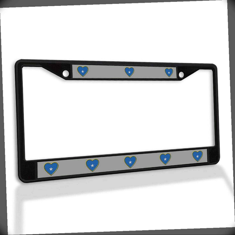 Baltimore Mall New License Plate Frame Heart Ranking TOP9 Somalia Insert Metal Car Fram Flag