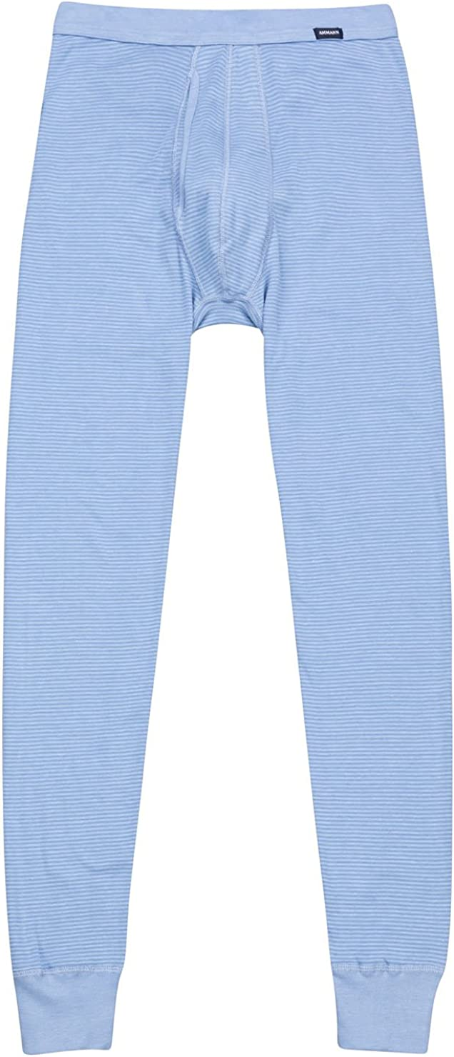 8 Ammann Herren Hose Lang lange Unterhose Eingriff 170-889-22 dunkelblau  Gr