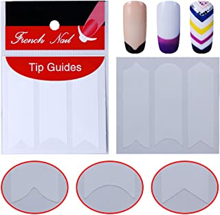 Elite99 French Nail Art Tip Guides Sticker Decals Decoration Different Shapes For Manicure Diy Tools Nail Art Salon Decor Set Wavy Line Wavy Line 0193