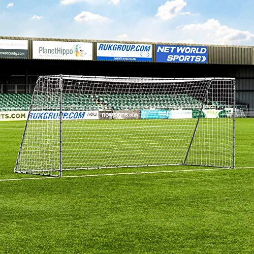 FORZA Steel42 Fußballtore – hochwertiges Garten Tor aus Stahl – 3 Größen erhältlich (4,9m x 2,1m)