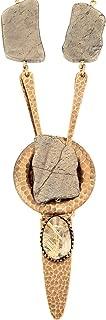 Pyrite and Quartz Courageous Necklace from Designer Jan Michaels